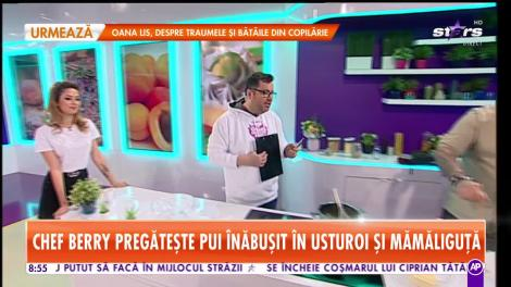 Reţeta lui Chef Berry - Star Matinal: Pui înăbușit în usturoi și mămăliguță