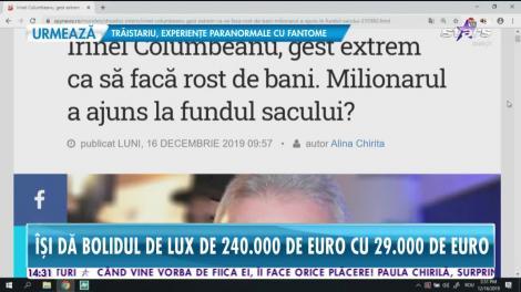Star News. Irinel Columbeanu pare că are mari probleme financiare. Cu cât își vinde bolidul de lux