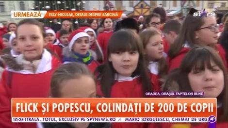Star Matinal. Flick şi Popescu, colindați de 200 de copii în Oraşul faptelor bune