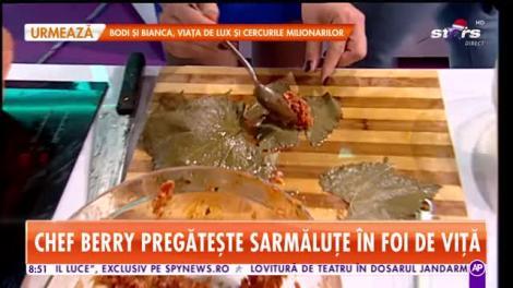 Reţeta lui Chef Berry - Star Matinal: Sarmale în foi de viță