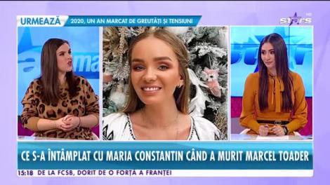 Star News. Ce s-a întâmplat cu Maria Constantin când a murit Marcel Toader