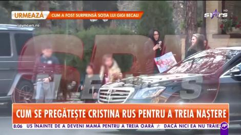 Star Matinal. Fimări în exclusivitate! Ce a făcut Cristina Rus înainte să devină mămică pentru a treia oară