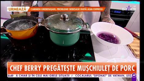 Reţeta lui Chef Berry - Star Matinal: Mușchiuleț de porc în sos de hribi