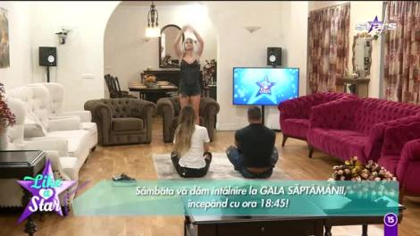 Like a Star! Larisa vrea să învețe tehnici de relaxare de la Cătălin! Reacția Liviei