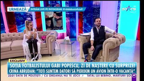 Crina Abrudan, soţia fotbalistului Gabi Popescu, zi de naştere cu surprize!