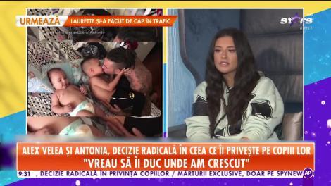 Antonia şi Alex Velea, decizie radicală în ceea ce îi priveşte pe copiii lor!