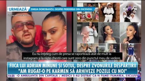 Fiica lui Adrian Minune şi soţul ei, primele declaraţii despre despărţire