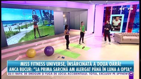 Răi da buni. Anca Bucur, Miss Fitness Universe, însărcinată a doua oară