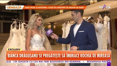 Star Matinal. Bianca Drăguşanu îşi alege rochia de mireasă, detalii despre nuntă!