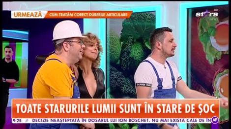 Star Matinal. Flick și Popescu fac glume de șantier: Roxana, pot să-ți dau o amorsă? Ține-mi ciocanul, te rog!