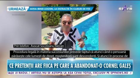 Star News. Fiica lui Cornel Galeş, în războiul pentru avere cu băieţii Ilenei Ciuculete