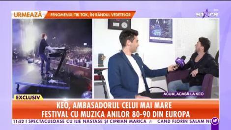 Keo, ambasadorul celui mai mare festival cu muzică anilor 80-90 din Europa