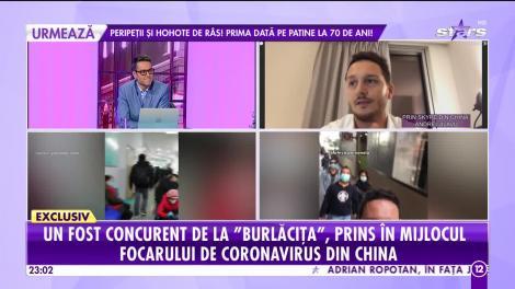 Agenția VIP. Andrei Jilavu, fost concurent de la Burlăciţa, prins în mijlocul focarului de coronavirus din China
