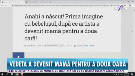 Star News. Celebra Anahi a născut un băiețel