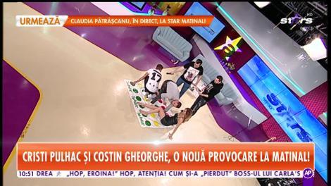 Provocare inedită pentru Cristi Pulhac şi Costin Gheorghe! Au jucat Twister cu asistenta Roxana!