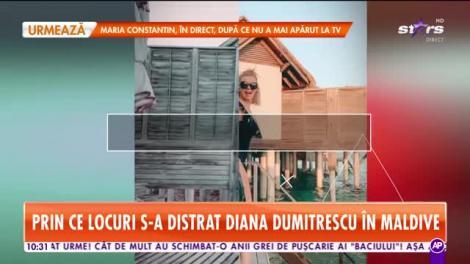 Diana Dumitrescu, vacanță de vis în Maldive!