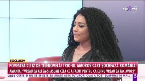 Trio-ul amoros care şochează România! Amanta unui celebru cântăreţ a rupt tăcerea la Agenţia VIP!