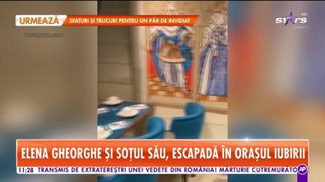 Elena Gheorghe şi soţul, weekend romantic la Paris