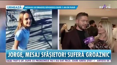 Star News. Jorge, mesaj sfâșietor. Fosta soție a luat fetița cu ea în SUA
