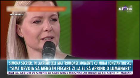 Star News. Simona Secrier, în lacrimi: Simt nevoia să merg în fiecare zi la Mihai Constantinescu să aprind o lumânare