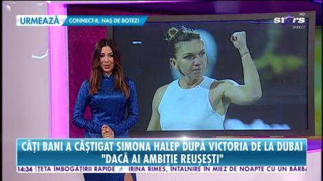 Primul titlu din 2020 i-a umplut conturile Simonei Halep. Câți bani a câștigat sportiva la turneul din Dubai?