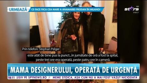 Star News. Mama designerului Stephan Pelger, operată de urgență