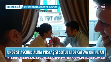 Star News. Unde se ascund Alina Pușcaș și soțul ei de câteva ori pe an