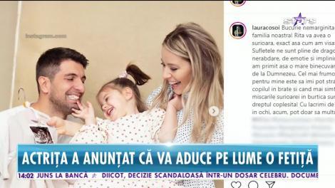 Laura Cosoi este însărcinată din nou. Vedeta a dat marea veste chiar de Ziua Mamei și a dezvăluit și sexul bebelușului
