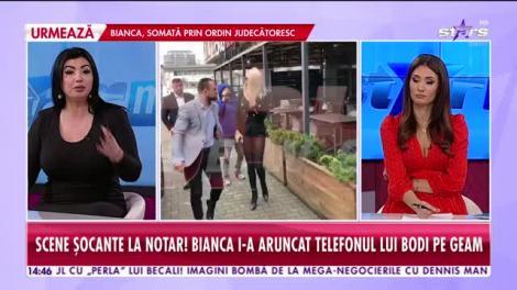 Bianca Drăguşanu și  Alex Bodi, divorț cu bodyguarzi, scandal și somații. I-a aruncat telefonul pe geam!