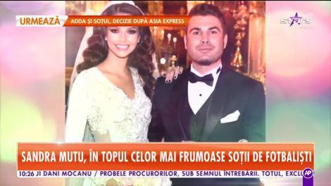 Soția lui Adrian Mutu, Sandra, în topul celor mai frumoase soții de fotbaliști
