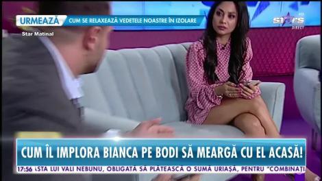 Imagini scandaloase! Cum îl imploră Bianca Drăguşanu pe Alex Bodi să meargă cu el acasă