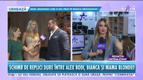 Scandal monstru între Alex Bodi, Bianca Drăgușanu și mama vedetei. Țipete, injurii și acuzații