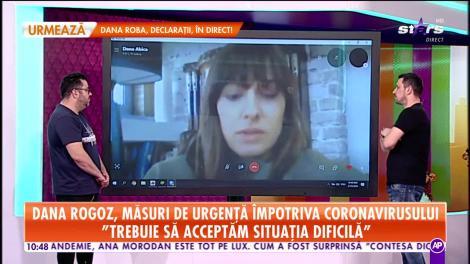 Dana Rogoz, măsuri de urgenţă împotriva coronavirsului