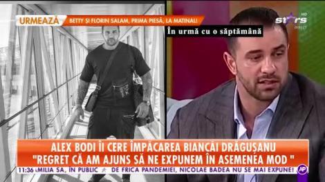 Alex Bodi vrea să se împace cu Bianca Drăguşanu