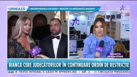 Bianca Drăguşanu cere judecătorilor ordin de restricție împotriva lui Alex Bodi
