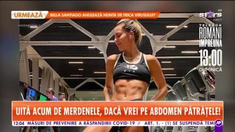 Antrenament dur cu una dintre cele mai sexy profesoare de fitness