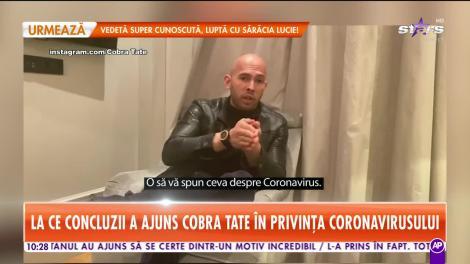 La ce concluzii a ajuns Cobra Tate în privința coronavirusului