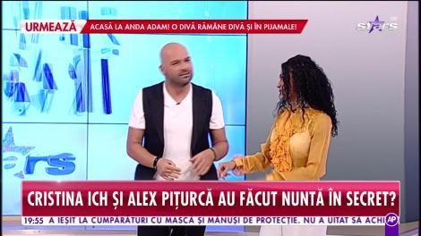 Cristina ICH și Alex Pițurcă ar fi făcut nuntă în secret: Cea mai frumoasă declarație de iubire a fost cererea în căsătorie