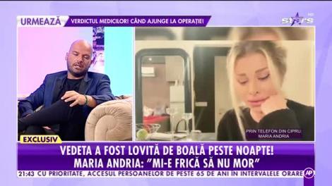 Maria Andria, mărturii cutremurătoare despre diagnosticul necruţător. Ce simptome are