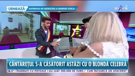 Jador s-a căsătorit cu o blondă celebră. Imagini de senzație de la nuntă