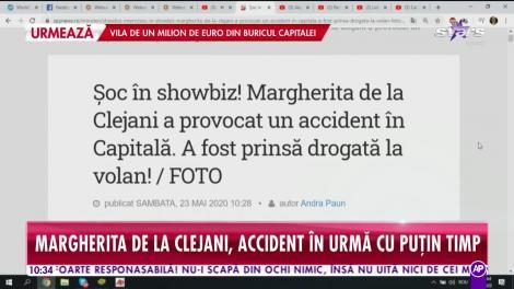 Margherita de la Clejani, accident rutier! Artista a fost depistată pozitiv pentru droguri