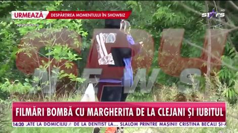 Margherita de la Clejani, prima apariție publică după ce a fost prinsă drogată la volan. Tânăra a ieșit la plimbare cu iubitul ei