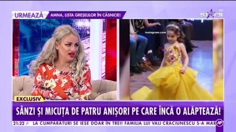 Sânziana Buruiană, însărcinată din nou! Deși are un copil în pântec, blondina încă își alăptează fetița în vârsta de cinci ani! |VIDEO
