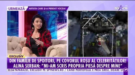 Actrița Alina Șerban îşi spune povestea la Showbiz Report! Cum a ajuns din sărăcie lucie pe covorul roşu