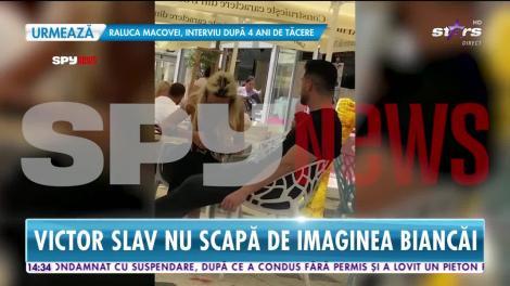 Victor Slav se iubește cu sosia Biancăi Drăgușanu! Asemănarea dintre cele două femei este izbitoare!  VIDEO