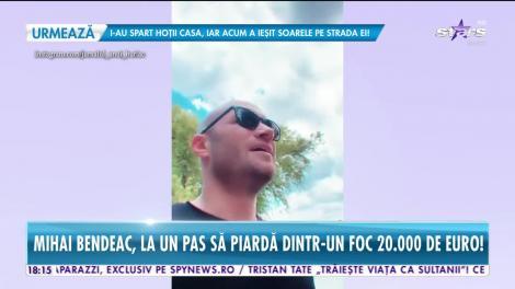 Mihai Bendeac, la un pas să piardă 20 de mii de euro