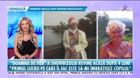 Monica Tatoiu revine în România după aproape 4 luni