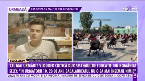 Selly, cel mai urmărit vlogger, critică dur învățământul românesc