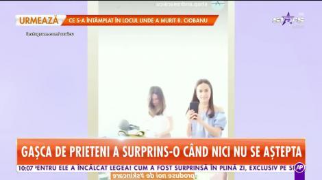 Andreea Raicu, sărbătorita zilei! Gașca de prieteni a surprins-o când nici nu se aștepta