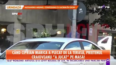 Ciprian Marica și Gică Craioveanu, surprinşi la o terasă de lux din Capitală. Unul dintre ei a făcut un gest neaşteptat